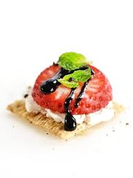 Strawberry, Goat Cheese & Balsamic Reduction